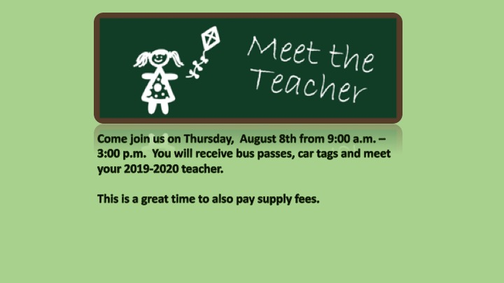 MEET THE TEACHER DAY – AUGUST 8TH – 9am – 3pm | Chester W